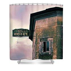 Abandoned Hotel Shower Curtain by Jill Battaglia