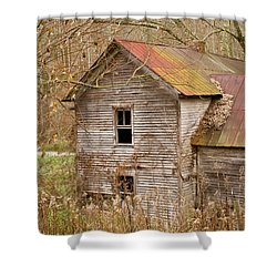 Abandoned House With Colorful Roof Shower Curtain