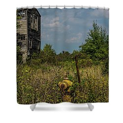 Abandoned Hydrant Shower Curtain