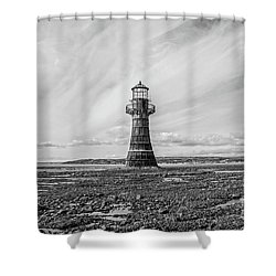 Shower Curtain featuring the photograph Abandoned Light House Whiteford by Edward Fielding
