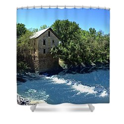 Shower Curtain featuring the photograph Abandoned Mill At Cedar Point by Rod Seel