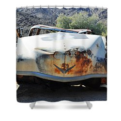 Shower Curtain featuring the photograph Abandoned Mojave Auto by Kyle Hanson