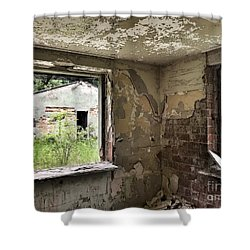 Abandoned Old Ammunition Depot Of The Belgian Army  Shower Curtain