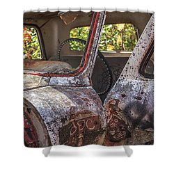 Shower Curtain featuring the photograph Abandoned Old Truck Newport New Hampshire by Edward Fielding