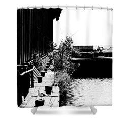 Abandoned Ore Dock Shower Curtain