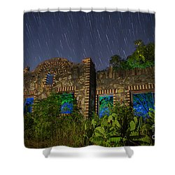 Abandoned Outlaw Gas Station II Shower Curtain