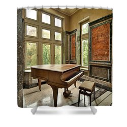 Abandoned Piano - Urban Exploration Shower Curtain by Dirk Ercken