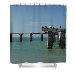 Abandoned Pier Shower Curtain by Sean Allen
