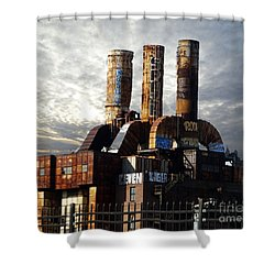 Abandoned Power Plant Shower Curtain
