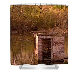 Abandoned Pump House Shower Curtain