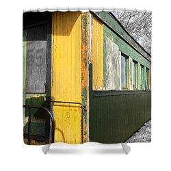 Abandoned Rail Cars, Maine Narrow Gauge Railroad Shower Curtain by Patricia E Sundik