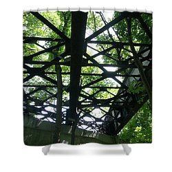 Abandoned Railroad Bridge Shower Curtain