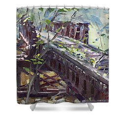 Abandoned Railroad Bridge In Tonawanda Shower Curtain