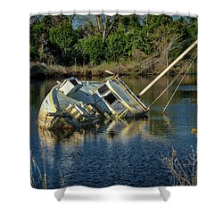 Abandoned Ship Shower Curtain