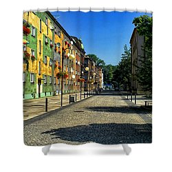 Shower Curtain featuring the photograph Abandoned Street by Mariola Bitner