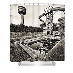 Abandoned Swimming Pool - Lost Places Shower Curtain by Dirk Ercken