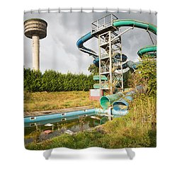 abandoned swimming pool - Urban exploration Shower Curtain