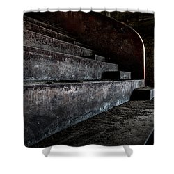 Abandoned Theatre Steps - Architectual Heritage Shower Curtain