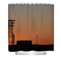 Abandoned Tower Shower Curtain