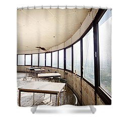 Abandoned Tower Restaurant - Urban Decay Shower Curtain by Dirk Ercken
