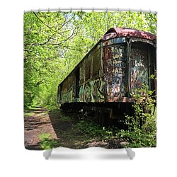 Abandoned Train Car Shower Curtain