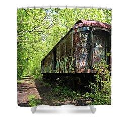 Abandoned Train Car Shower Curtain by Elsa Marie Santoro