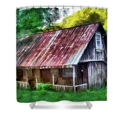 Abandoned Vintage House In The Woods Ap Shower Curtain