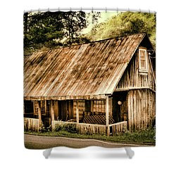 Abandoned Vintage House In The Woods Shower Curtain by Dan Carmichael