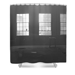 Abandoned Warehouse Shower Curtain by Carol Turner