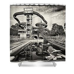 Lets Have A Splash - Abandoned Water Park Shower Curtain by Dirk Ercken