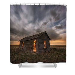 Shower Curtain featuring the photograph Abandoned Winds by Darren White