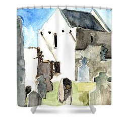 Abbey Watercolor Shower Curtain