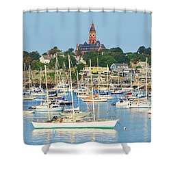 Abbot Hall Over Marblehead Harbor From Chandler Hovey Park Shower Curtain