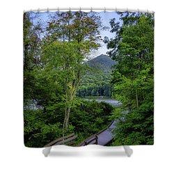 Abbott Lake Trail Shower Curtain