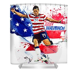 Abby Wambach Shower Curtain by Semih Yurdabak