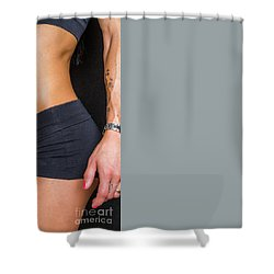 Abdominal Muscles Shower Curtain