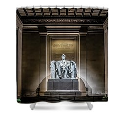 Abe Lincoln Under His Night Lights  Shower Curtain