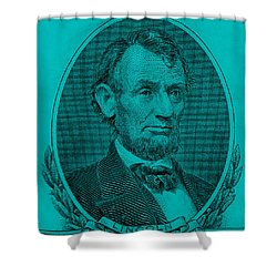 Shower Curtain featuring the photograph Abe On The 5 Aqua Blue by Rob Hans