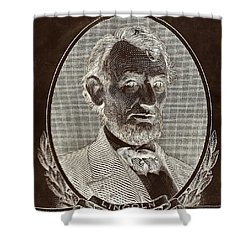 Shower Curtain featuring the photograph Abe On The 5 B W Inverted Brown by Rob Hans