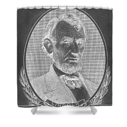 Shower Curtain featuring the photograph Abe On The 5 B W Inverted by Rob Hans