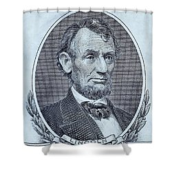 Shower Curtain featuring the photograph Abe On The 5 Cyan by Rob Hans