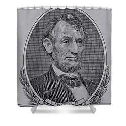 Shower Curtain featuring the photograph Abe On The 5 Gray by Rob Hans