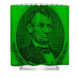 Shower Curtain featuring the photograph Abe On The 5 Green by Rob Hans