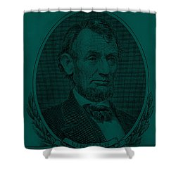 Shower Curtain featuring the photograph Abe On The 5 Greenishblue by Rob Hans