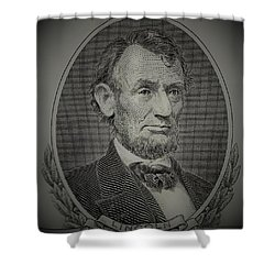 Shower Curtain featuring the photograph Abe On The 5 Grey by Rob Hans