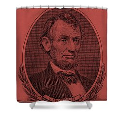Shower Curtain featuring the photograph Abe On The 5 Peach by Rob Hans