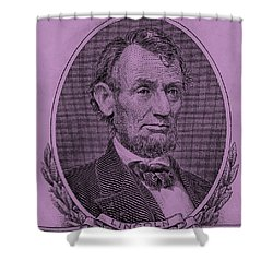 Shower Curtain featuring the photograph Abe On The 5 Pink by Rob Hans
