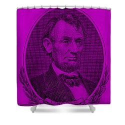 Shower Curtain featuring the photograph Abe On The 5 Purple by Rob Hans