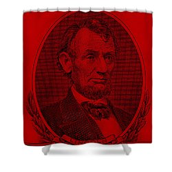 Shower Curtain featuring the photograph Abe On The 5 Red by Rob Hans