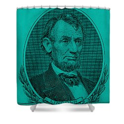 Shower Curtain featuring the photograph Abe On The 5 Turquoise by Rob Hans